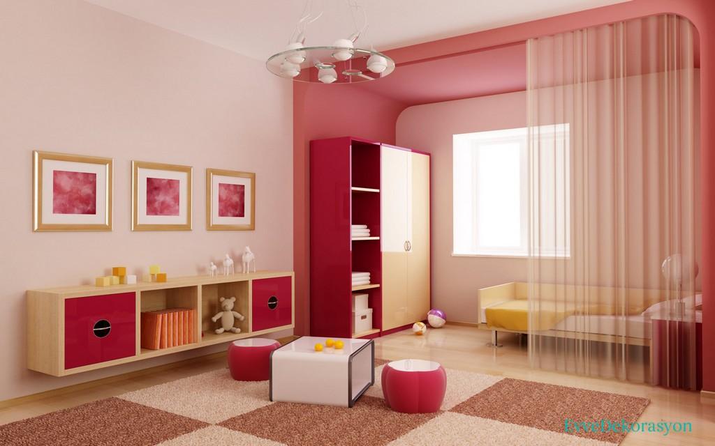 Ev Boyası Pembe Renk Örnekleri