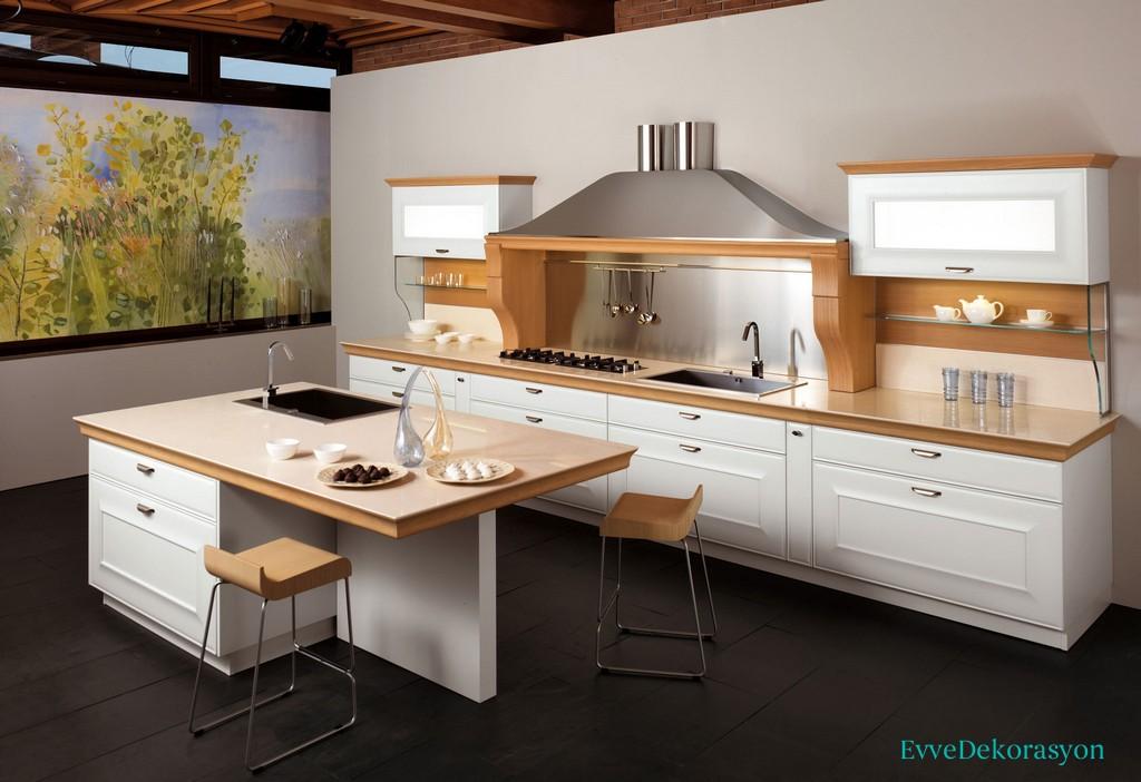 Beyaz İtalyan Mutfak Modeli