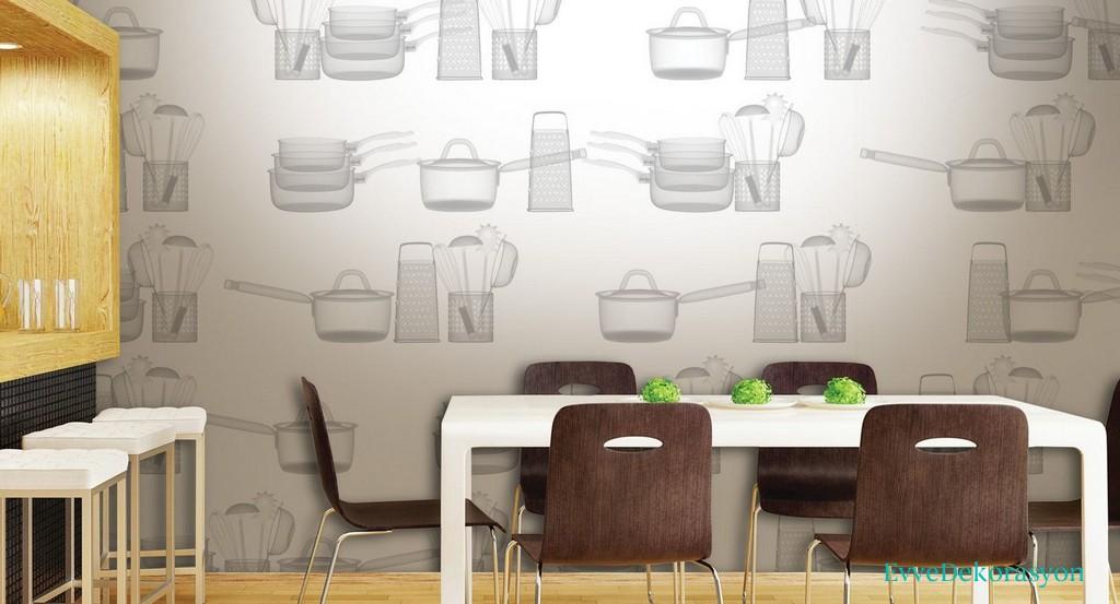 Mutfak İçin Güzel Duvar Kağıt Modelleri
