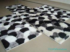 Siyah beyaz Yatak Odası Halıları