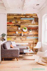 Ahşap Duvarlarla Rustik Ev Dekorasyonu