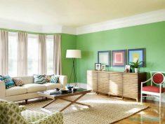 Salon Duvarlar Ve Mobilyaların Renk Uyumu