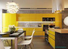 Mutfaklarda Sarı Renginin Kullanımı