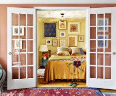 Sarı Renk Yatak Odası Duvarı