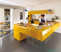 Mutfakta Sarı Renklerde Dekorasyon Fikirleri