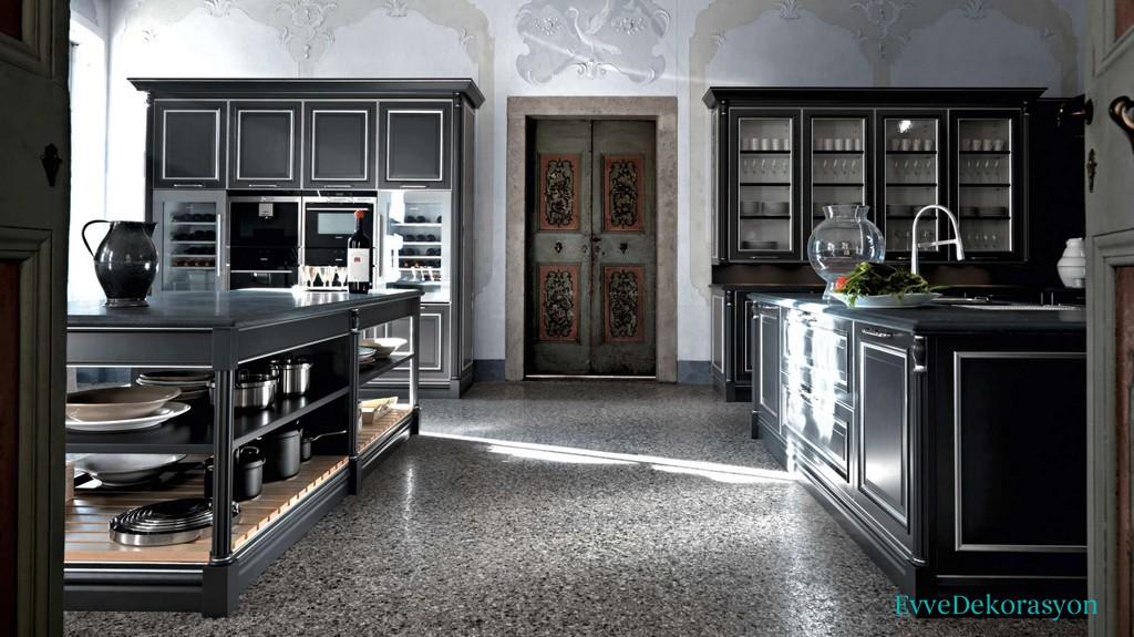 Siyah Ve Lüx İtalyan Mutfak Modelleri