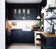 Siyah Ve Küçük Mutfaklar İçin Tasarım Fikirleri