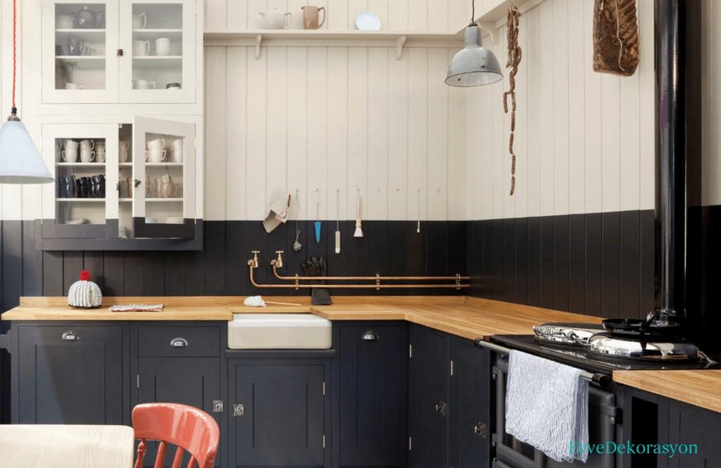 Ünlülerin Siyah Mutfak Modelleri