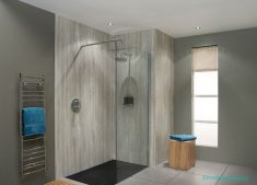 Açık Renk Taş Desen Banyo Modelleri