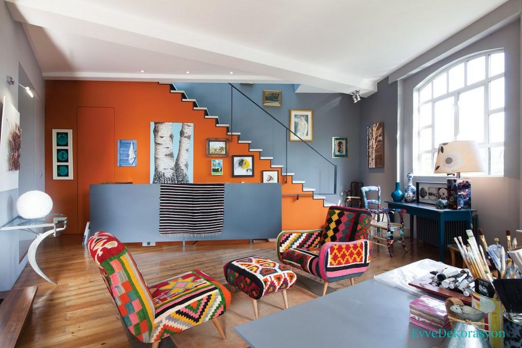 Turuncu Renklerin Evlerde Kullanımı