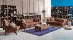Kahverengi Klasik Salon Dekorasyonu