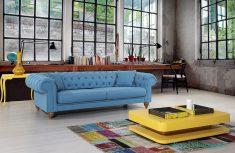 Vivense Mavi Renk Kanepe Tasarımı