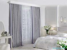 Rustik Yatak Odası Perdesi