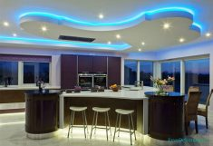 Yeni Mutfaklarda Alçı Tavan Modelleri