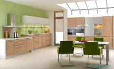Yeşil Mutfak Duvar Kağıt Fikirleri