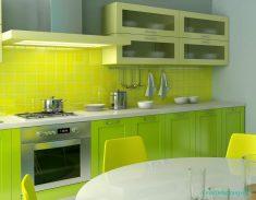 Yeşil Renklerde Mutfak Fikirleri Ve Tasarımları