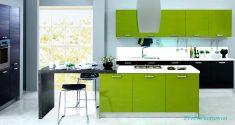 Yeşil Renk Hazır Mutfak Modelleri