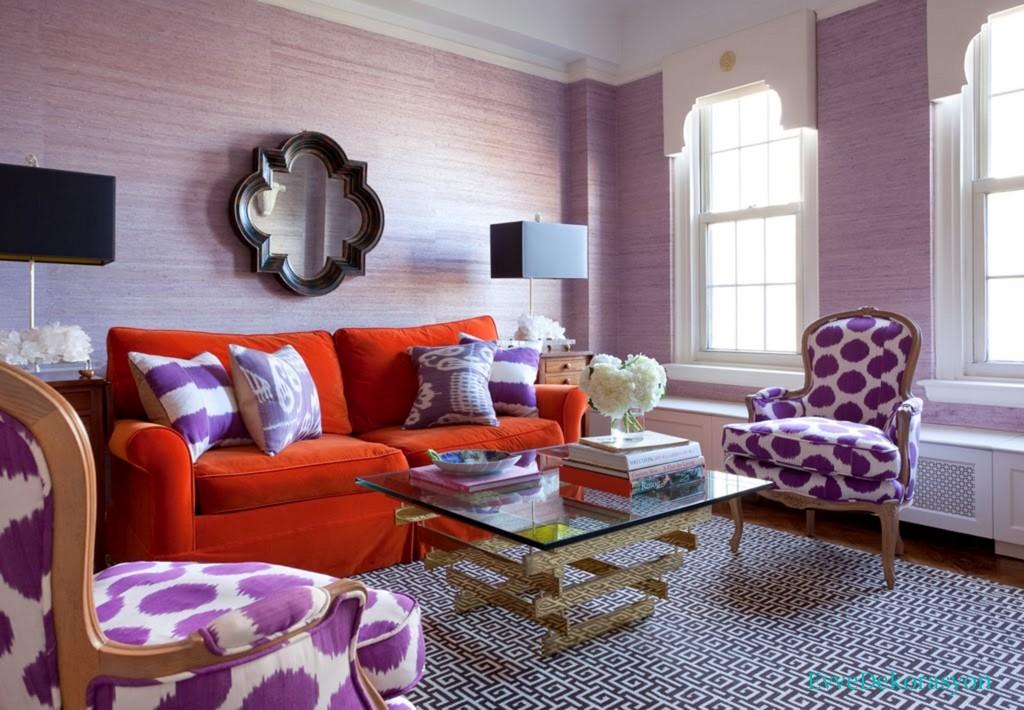 Salon dekorasyonunda farklı renklerin kullanımı