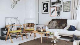 İskandinav Stili Salon Dekorasyonu