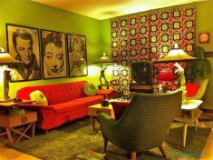 En renkli Retro oturma odası