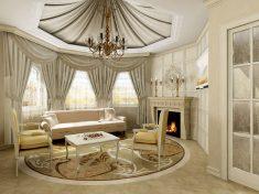 Klasik Oval Salon Dekorasyonu