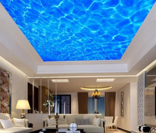 3 boyutlu dalga görünümlü asma tavan