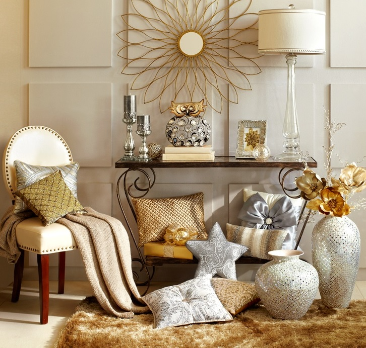Altın rengi dekorasyon fikirleri