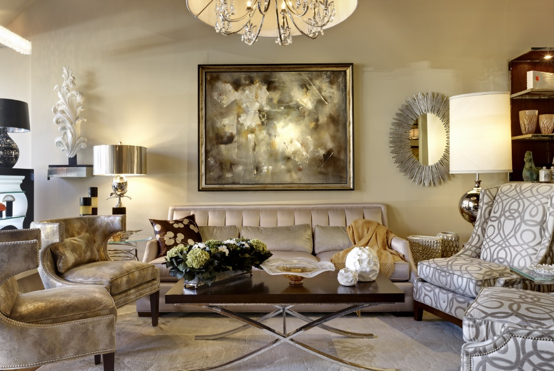 Altın rengi ev dekorasyonu
