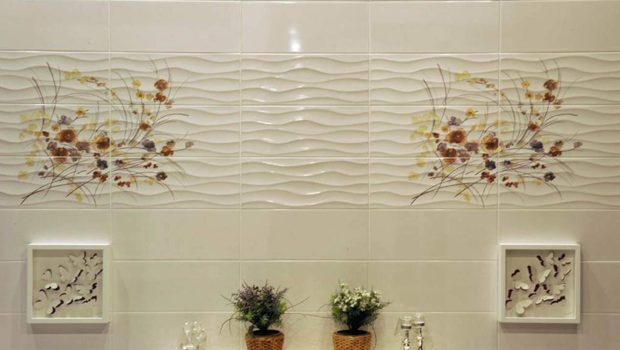 Banyo duvarlarında desenli dekorasyonlar