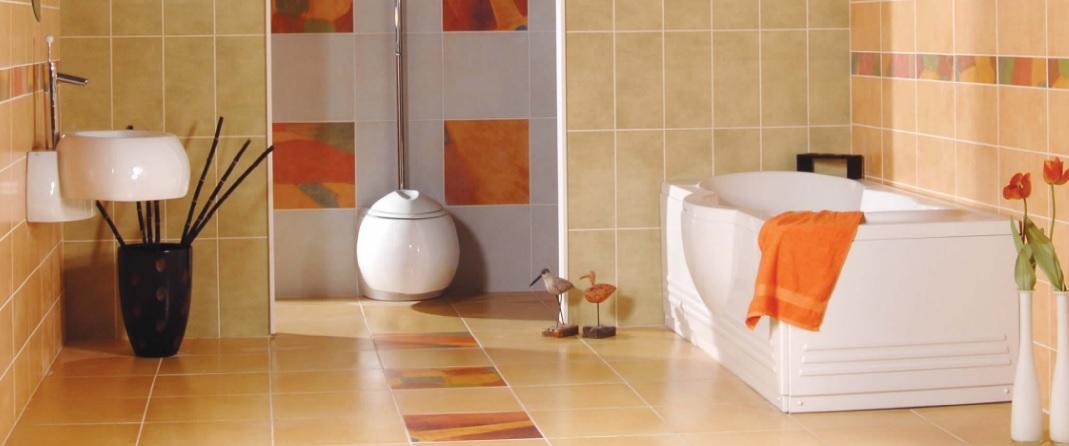 Banyoda desenli seramik