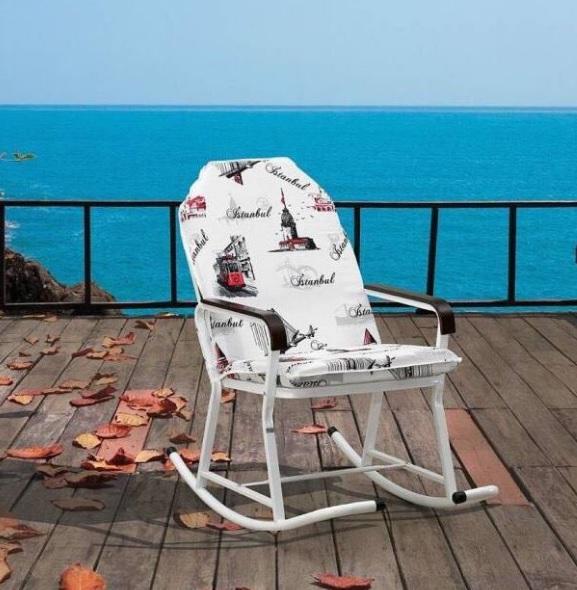Çelik gövdeli hoş tasarımlı sallanan koltuk