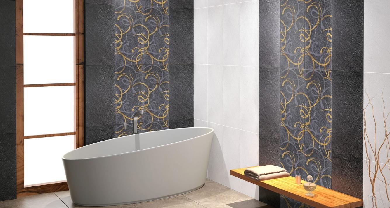 Desenli banyo dekorasyonu