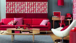 Kırmızı Salon Dekorasyonu İle Pozitif Enerji Verin