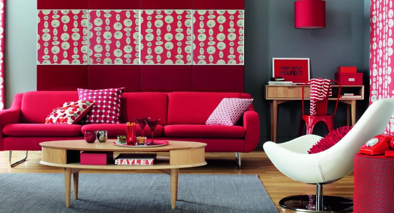 En güzel kırmızı salon örnekleri