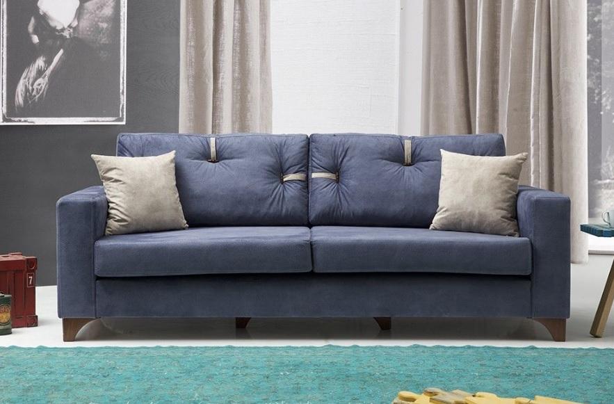 Evmanya mavi kanepe modelleri