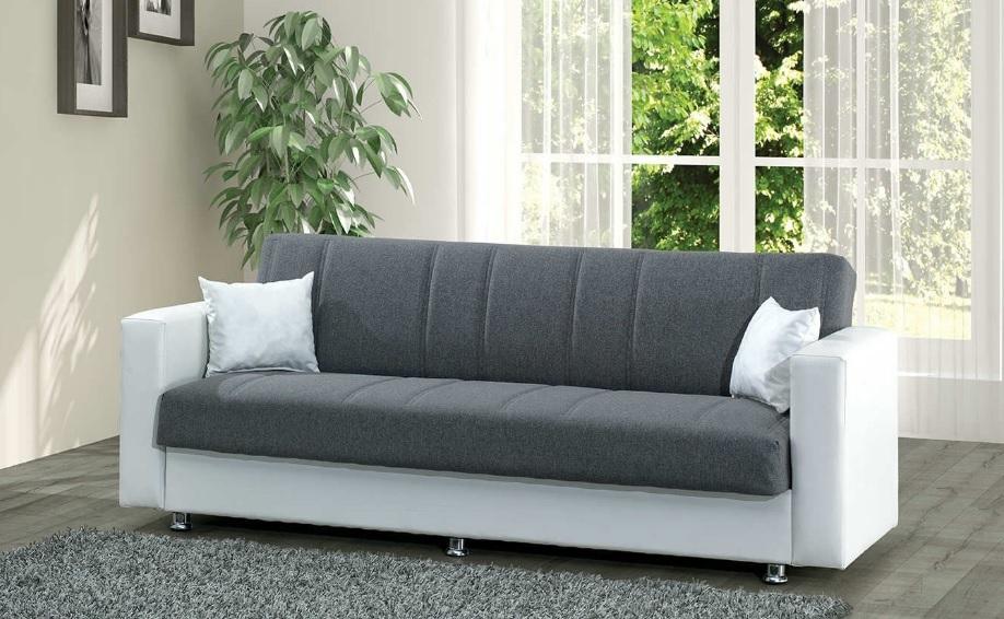 Filament gri beyaz kumaş kanepe