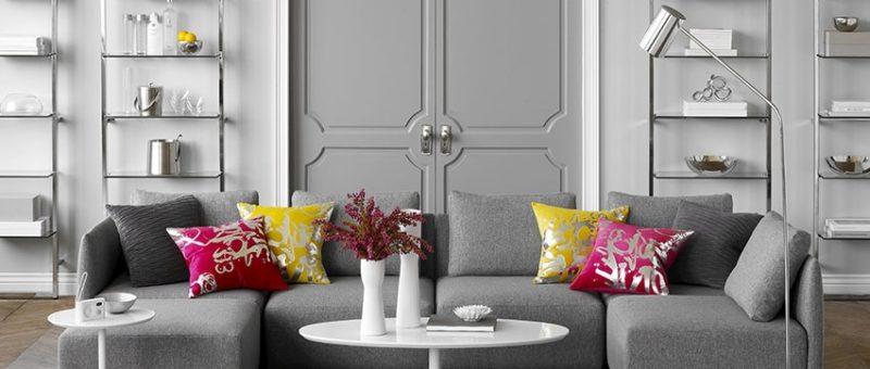 Evlerinize Uyumlu Gri Salon Dekorasyonu Fikirleri