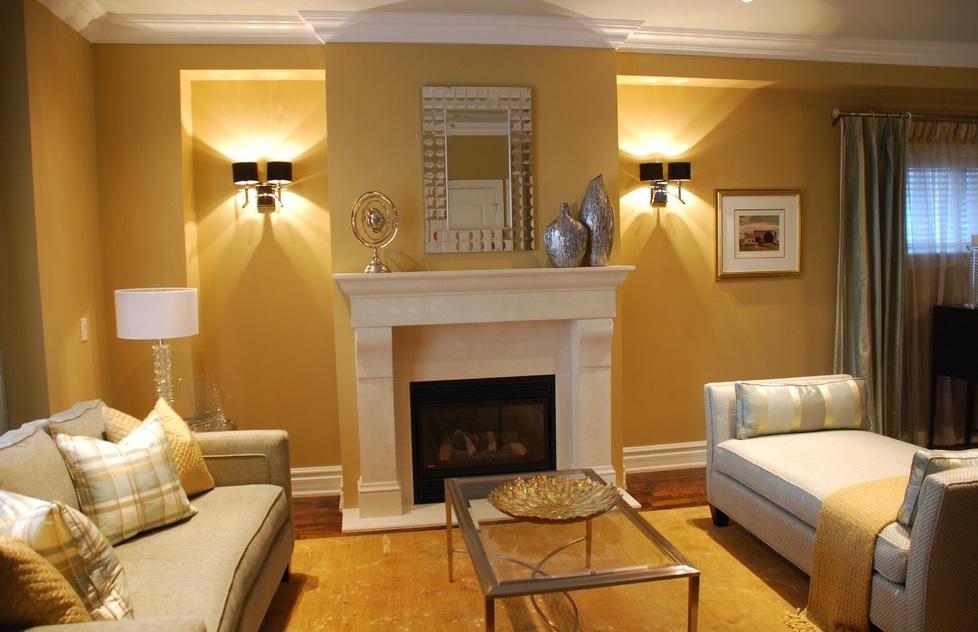 Oturma odanızda altın rengi