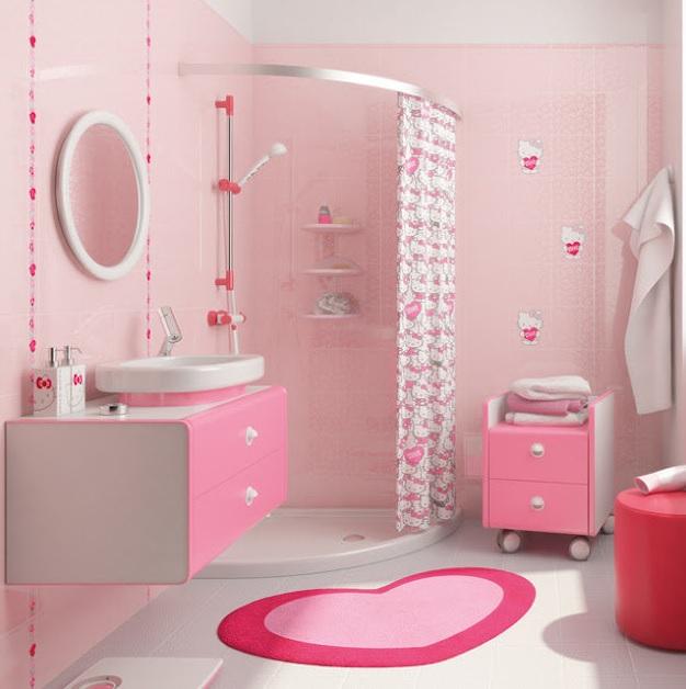 Pembe romantik banyo