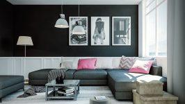 Kesinlikle İçinizi Karartmayacak Siyah Salon Dekorasyonu Fikirleri