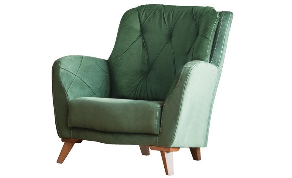 Yeşil berjer koltuk