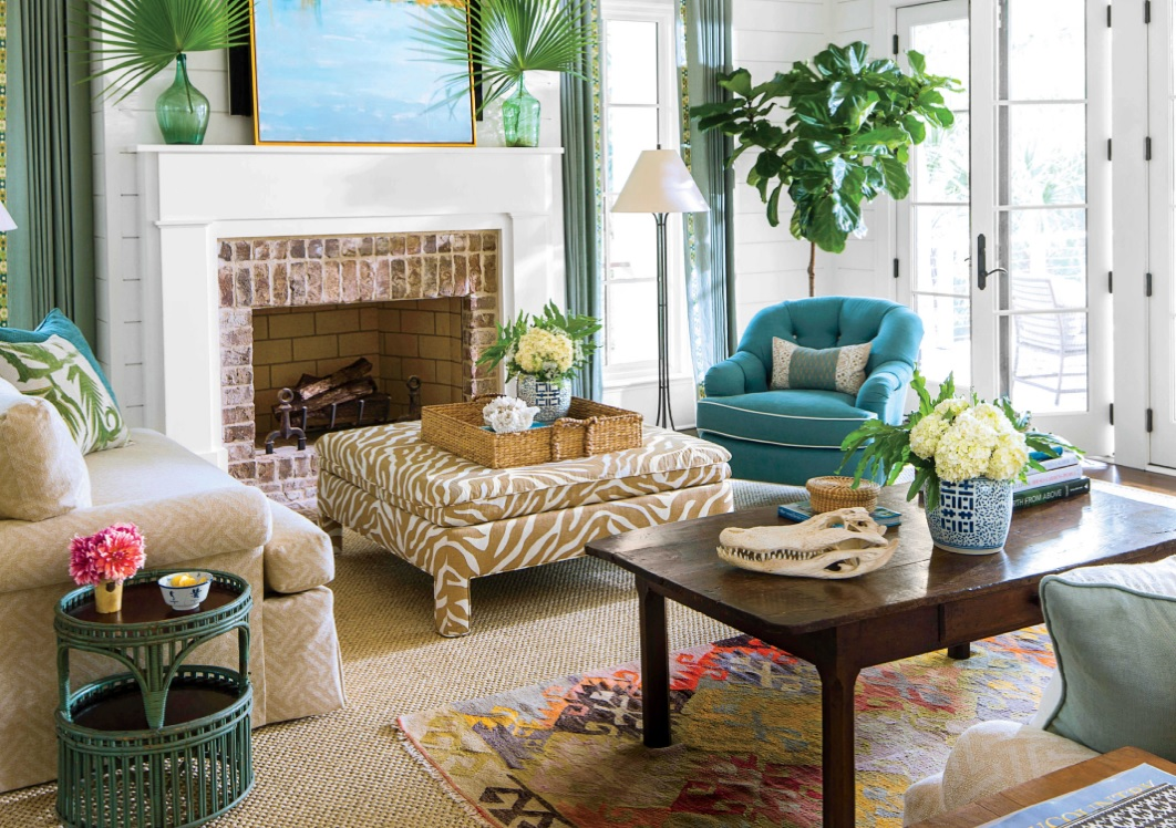 Yeşil bitkili ev dekorasyonu
