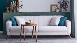 Doğtaş Loft Style Koltuk Takımı Meşe Beyaz Uyumuyla Küçük ve Dar Salonlar İçin