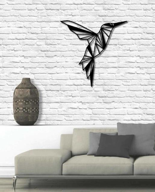 Kuş Figürlü Metal Duvar Süsü