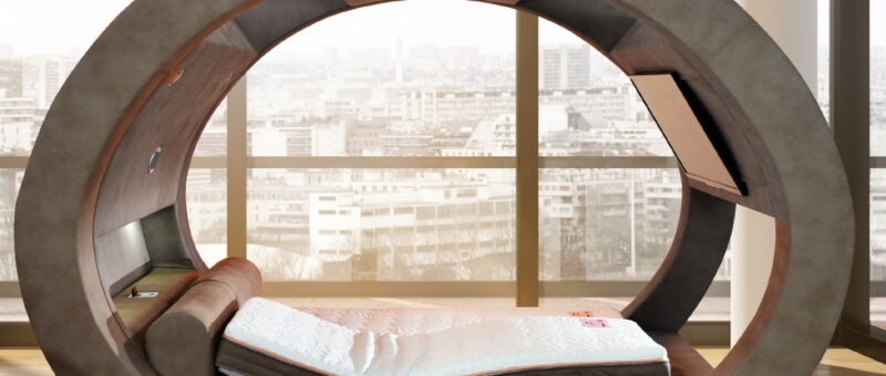 Farklı Tarzlarda Televizyonlu Yatak Modelleri